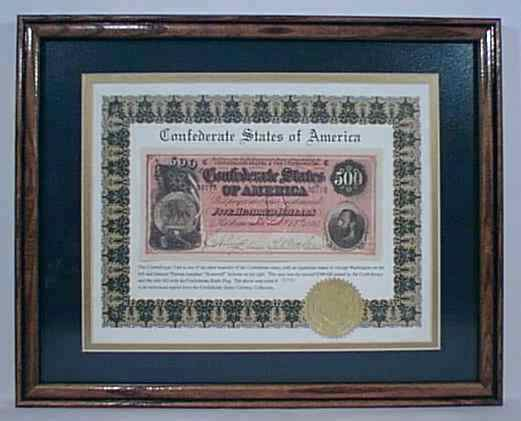 Confederate Note $500
